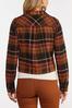 Plus Size Autumn Plaid Jacket alt view