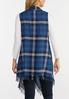 Plus Size Draped Plaid Vest alternate view