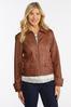 Plus Size Faux Leather Jacket alternate view