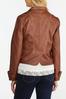 Plus Size Faux Leather Jacket alt view