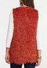 Plus Size Textured Eyelash Vest alternate view