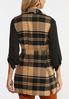 Plus Size Plaid Fringe Trim Vest alternate view