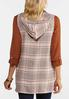Plus Size Plaid Hooded Vest alternate view