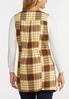 Plus Size Honey Plaid Vest alternate view