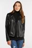 Plus Size Faux Leather Moto Jacket alternate view
