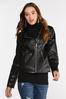 Plus Size Faux Leather Moto Jacket alt view