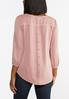 Plus Size Rose Button Back Top alternate view