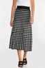 Plus Size Houndstooth Sweater Skirt alternate view