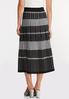 Plus Size Stripe Plaid Sweater Skirt alternate view