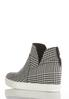 Houndstooth High- Top Wedge Sneakers alternate view