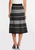 Stripe Plaid Sweater Skirt alternate view