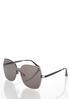 Beveled Rimless Sunglasses alternate view