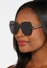 Beveled Rimless Sunglasses alt view