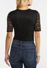 Plus Size Black Lace Bodysuit alternate view