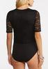 Plus Size Black Lace Bodysuit alt view