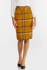 Gold Plaid Pencil Skirt alternate view