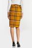 Gold Plaid Pencil Skirt alt view
