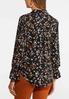 Plus Size Floral High- Low Shirt alternate view