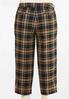 Plus Size Cropped Plaid Pants alternate view