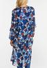 Plus Size Blue Floral Kimono alternate view