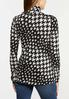 Plus Size Houndstooth Scrunch Turtleneck alternate view