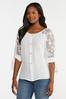 Plus Size Gauzy Embroidered Sleeve Top alternate view