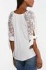 Plus Size Gauzy Embroidered Sleeve Top alt view