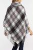 Plaid Toggle Poncho alt view