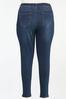 Plus Size Distressed Patchwork Jeans alt view