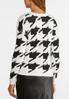 Plus Size Houndstooth Sweater alternate view