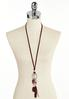 Suede Tassel Charm Pendant Necklace alternate view