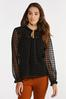 Plus Size Mesh Houndstooth Top alternate view