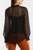 Plus Size Mesh Houndstooth Top alt view