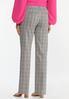 Petite Pink Plaid Trouser Pants alternate view
