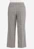Plus Size Pink Plaid Trouser Pants alternate view