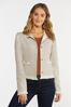 Plus Size Tweed Fringe Jacket alternate view