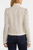 Plus Size Tweed Fringe Jacket alt view