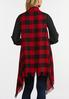 Plus Size Buffalo Plaid Fringe Vest alternate view