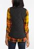 Plus Size Solid Puffer Vest alternate view