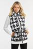 Plus Size Houndstooth Puffer Vest alternate view