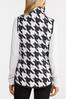 Plus Size Houndstooth Puffer Vest alt view