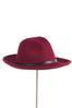 Wine Panama Hat alternate view