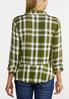 Plaid Peplum Shirt alternate view