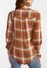 Plus Size Caramel Cream Plaid Shirt alternate view