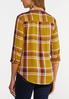 Plus Size Honey Plaid Shirt alternate view
