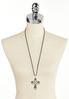 Cord Chain Cross Pendant Necklace alternate view
