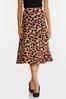 Plus Size Pink Leopard Sweater Skirt alternate view