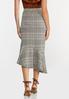 Plus Size Plaid Flounced Midi Skirt alternate view