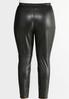 Plus Size Faux Leather Leggings alternate view