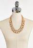 Layered Mixed Gold Chain Necklace alternate view